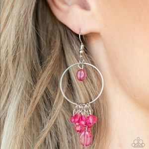 Where Tge Sky Touches The Sea pink earrings